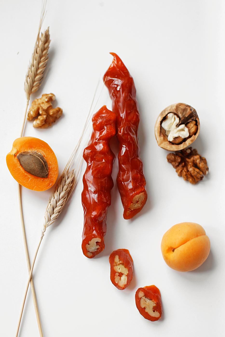 Фото - Чуч-хела абрикосовая с грецким орехом Ремесло вкуса чуч хела виноградная темная с грецким орехом ремесло вкуса