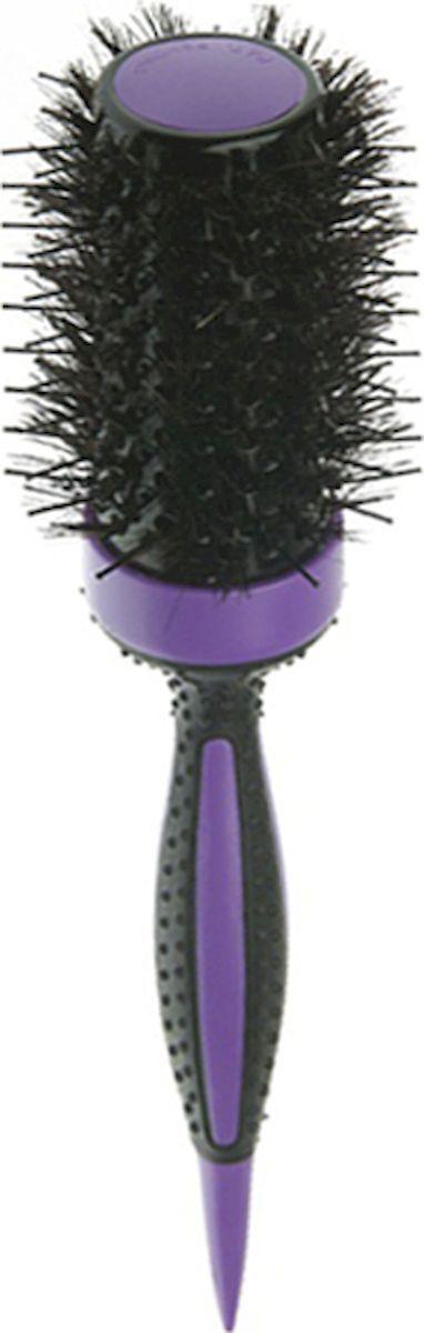 Термобрашинг DEWAL серия ELITE, с керамическим покрытием, фиолетовый, пл.штифт+нат.щетина d49/70мм