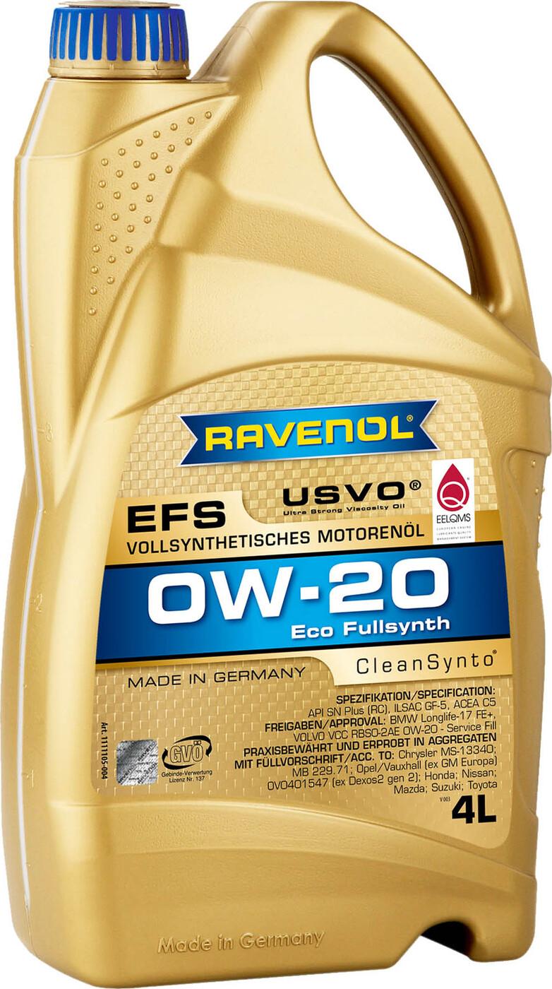 Моторное масло RAVENOL EFS EcoFullSynth SAE 0W-20 ( 4 л)
