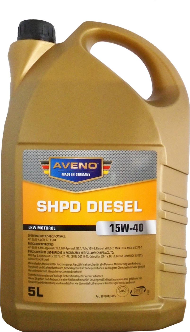 Моторное масло AVENO SHPD Diesel SAE 15W-40 (5л)