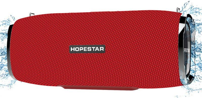 Портативная bluetooth колонка Hopestar A6 красная 35W