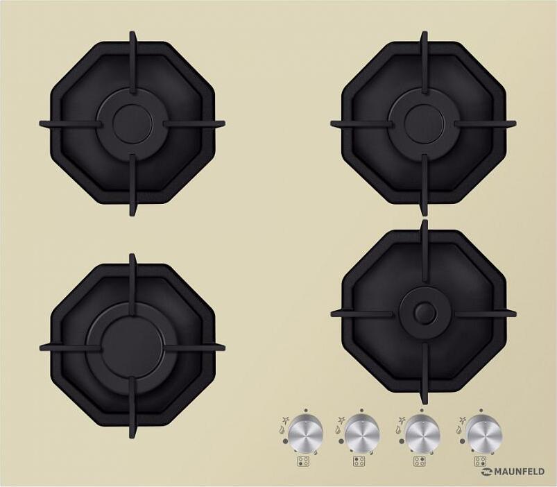 Варочная панель MAUNFELD EGHG. 64. 2CBGI/G Преимущественные особенности газовой варочной панели: Чугунные...