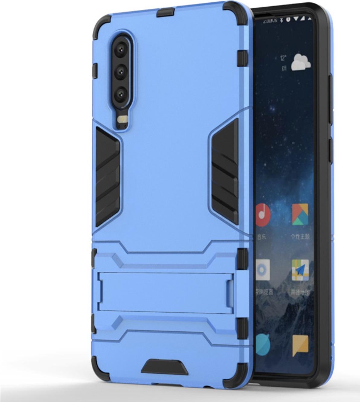 Чехол-бампер MyPads для Huawei Y5 2019/Huawei Honor 8S противоударный усиленный ударопрочный синий