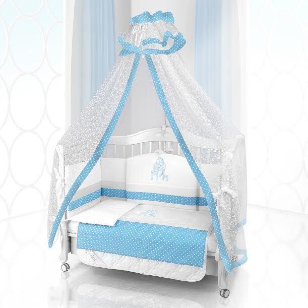 Комплект постельного белья Beatrice Bambini Unico Punto Di Giraffa (125х65) - bianco& blu