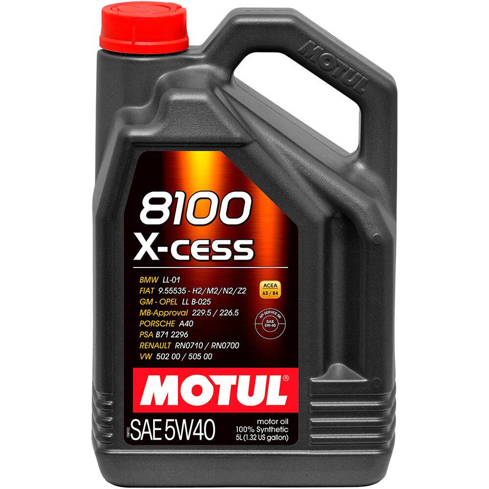 Масло моторное синтетическое Motul 8100 X-CESS 5W-40 100% Synt (5л)