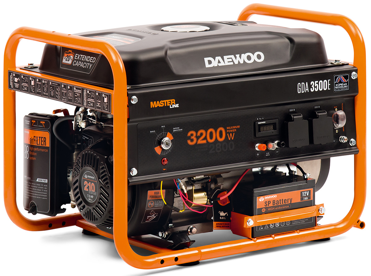 Бензиновый генератор DAEWOO GDA 3500E