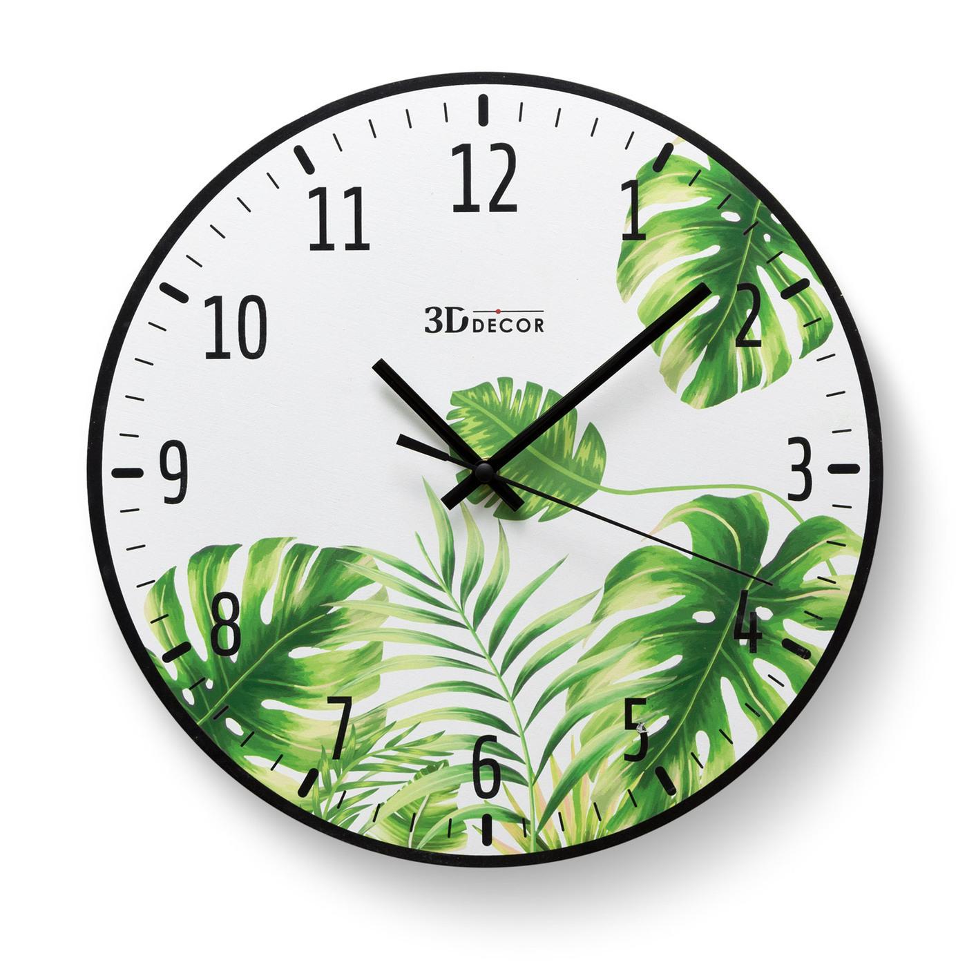 """Настенные часы 3D-Decor """"Tropical"""" 31"""