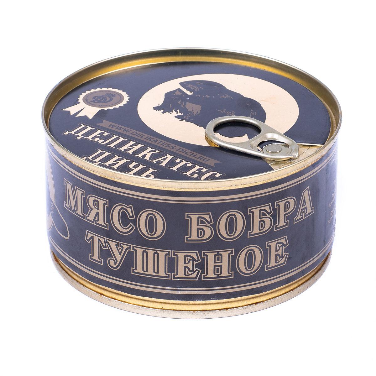 """Мясо бобра тушеное, """"Деликатес Дичь"""", 325 г"""