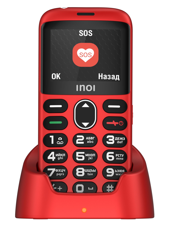 мобильный телефон inoi 118b, красный
