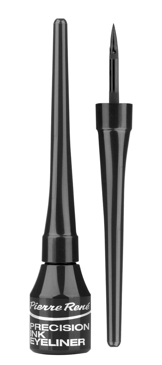 Классическая жидкая подводка 01, Pierre Rene Еyeliner Ink, черная #1