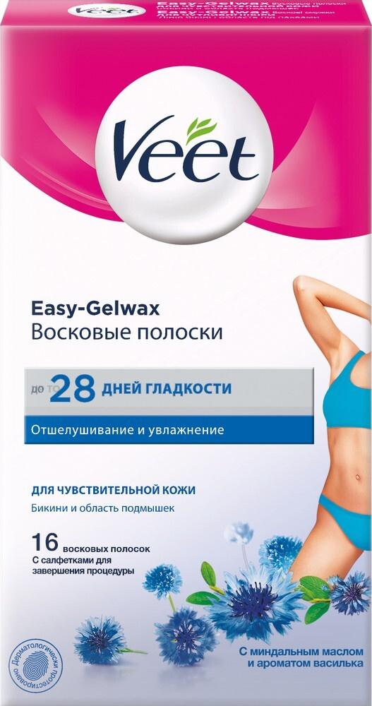Veet Восковые полоски для чувствительной кожи, линия бикини и область подмышек, c технологией Easy Gel-wax, #1