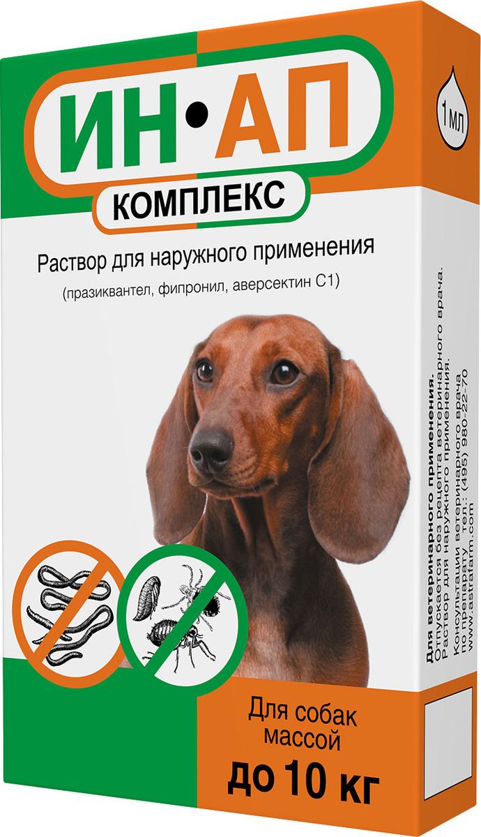 Капли ИН-АП от блох, клещей и глистов комплекс для собак массой до 10 кг  #1