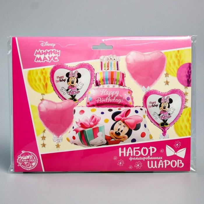 """Набор фольгированных шаров """"Happy Birthday"""", Минни Маус 36"""" #1"""