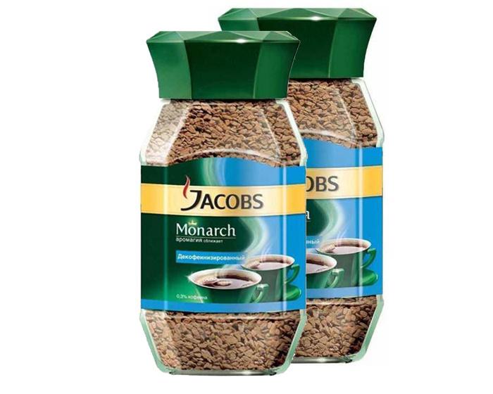 Кофе Jacobs Monarch Decaf без кофеина, 2 шт по 95 г #1