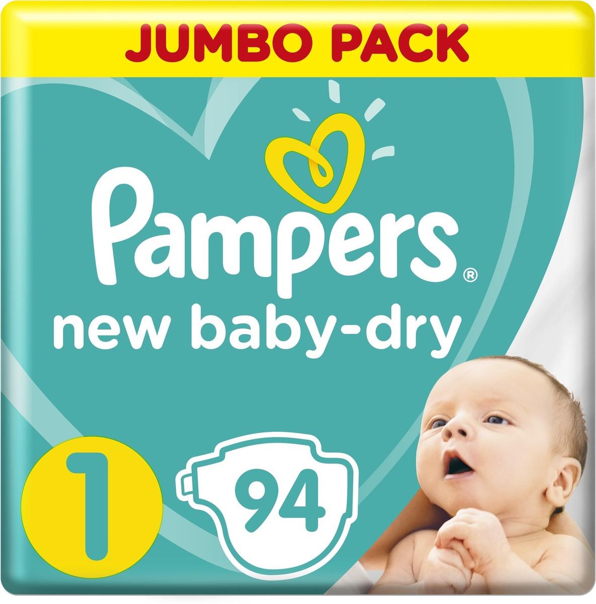 Pampers Подгузники New Baby-Dry 2-5 кг (размер 1) 94 шт #1