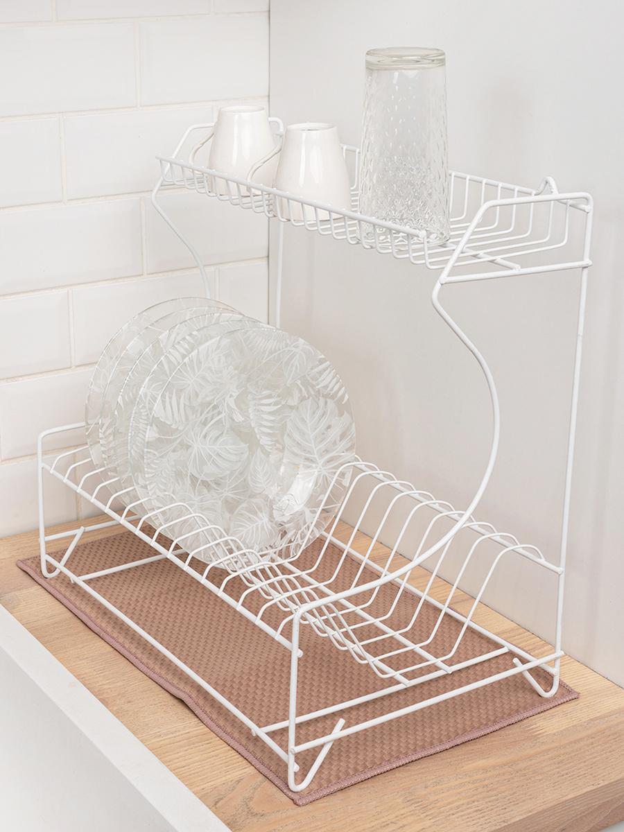 Коврик для сушки посуды Master House , 24 см х 45 см х 0.5 см, 1 шт #1