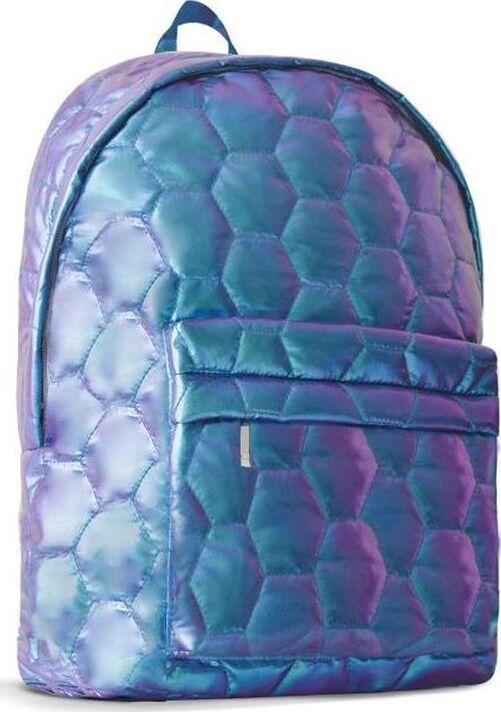 Рюкзак детский Феникс+ Соты, 49618, синий, 28 х 39 х 10 см цена и фото