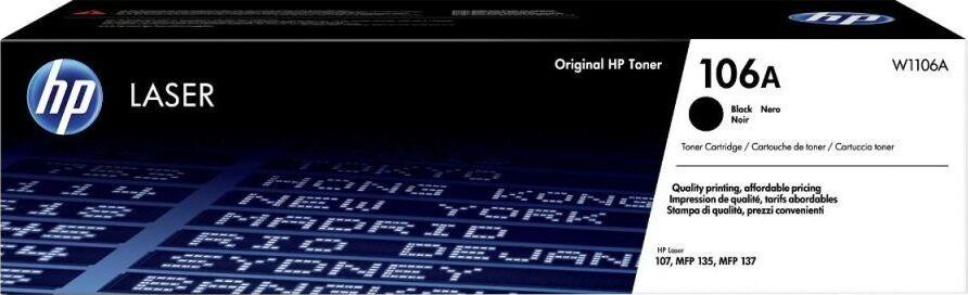 Тонер HP 106A, черный, для лазерного принтера, оригинал