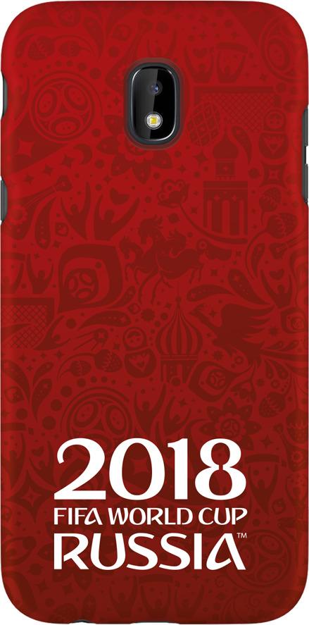 Чехол TPU для Samsung Galaxy J3(2017), FIFA Official Logotype red, Deppa чехол fifa 2018 official emblem white для samsung a5