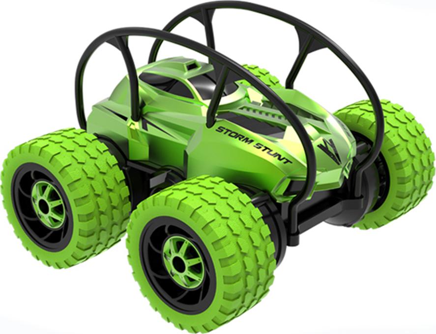 Машинка Каскадер, радиоуправляемая, 4 колеса Зеленый
