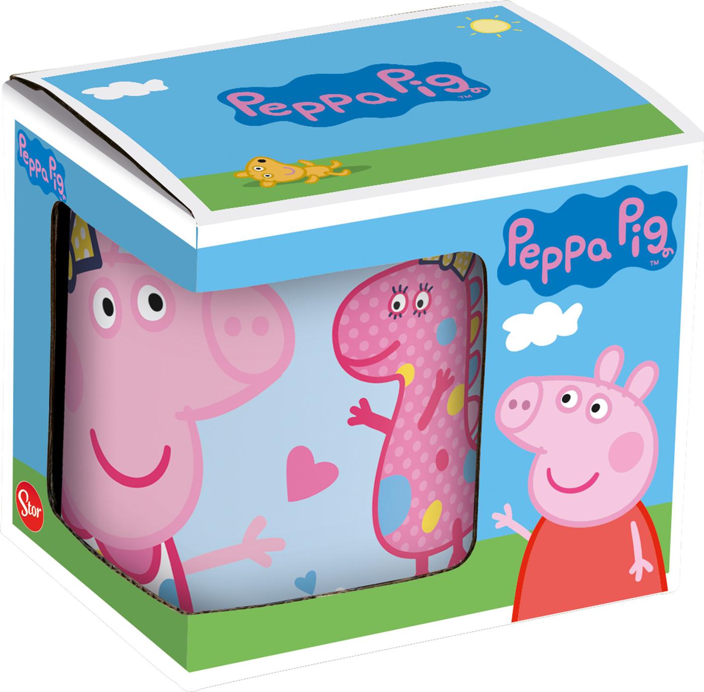 Кружка керамическая Stor в подарочной упаковке (325 мл). Свинка Пеппа и Дино, арт.20103