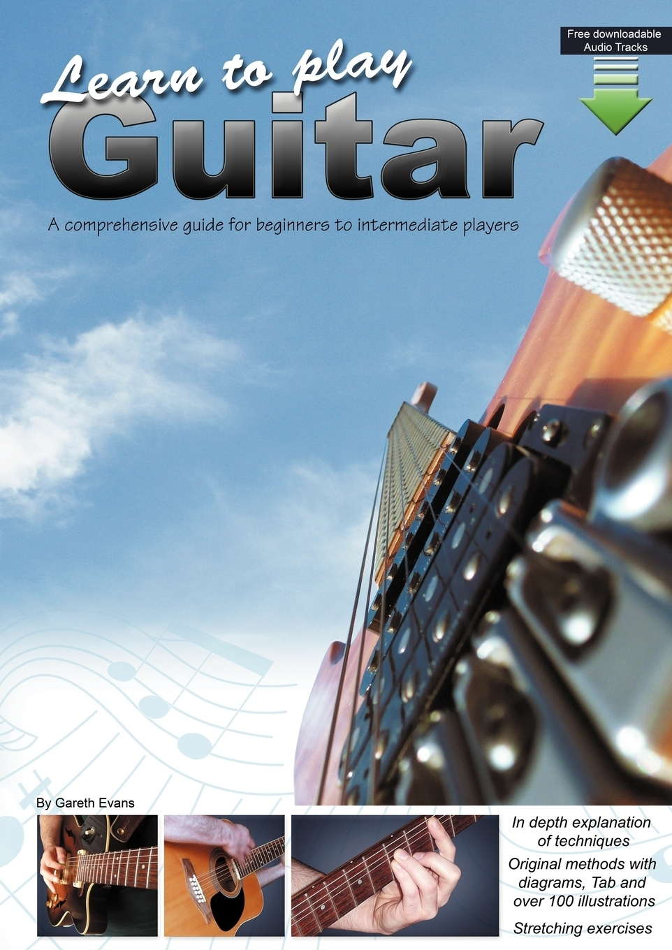 Gareth Evans Learn to Play Guitar. A Comprehensive Guide for Beginners to Intermediate Players afanti music electric guitar amplifier amp 108