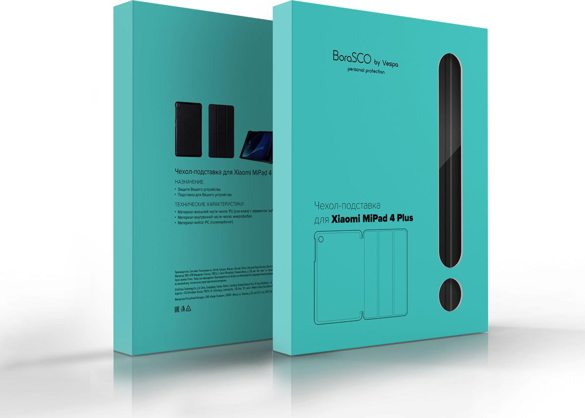Чехол-подставка BoraSCO by Vespa дляXiaomi Mi Pad 4 Plus, черный