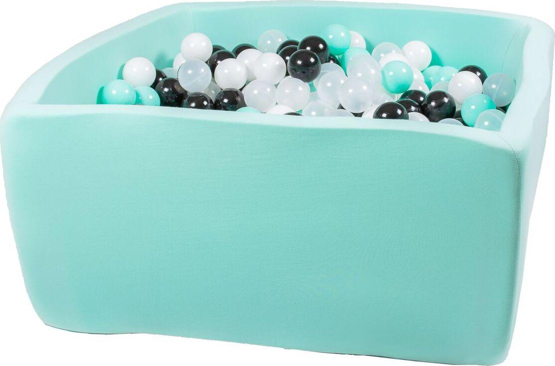 Сухой бассейн Ночное сияние Квадро выс. h40см с 250 шариками: мят., бел., черн., оранж., прозр.