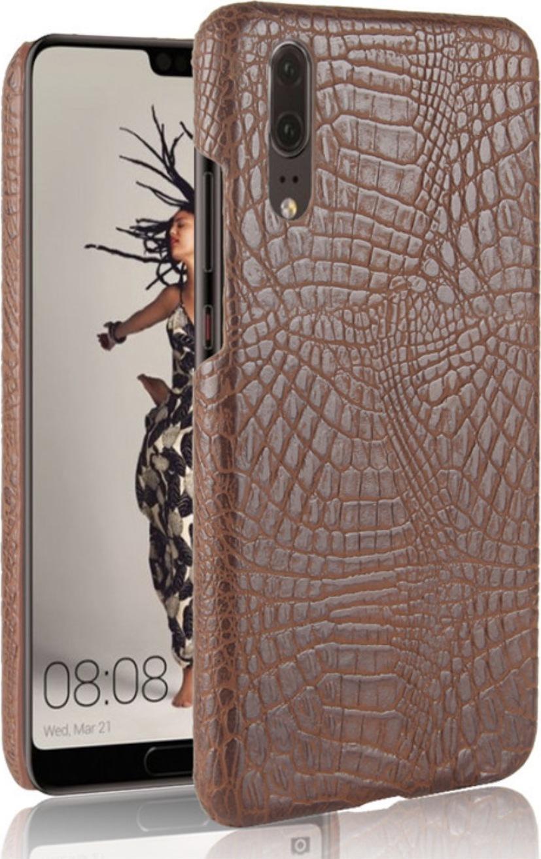 Чехол-панель Mypads для Sony Xperia 10 Plus задний бампер на пластиковой основе с отделкой под кожу крокодила коричневый
