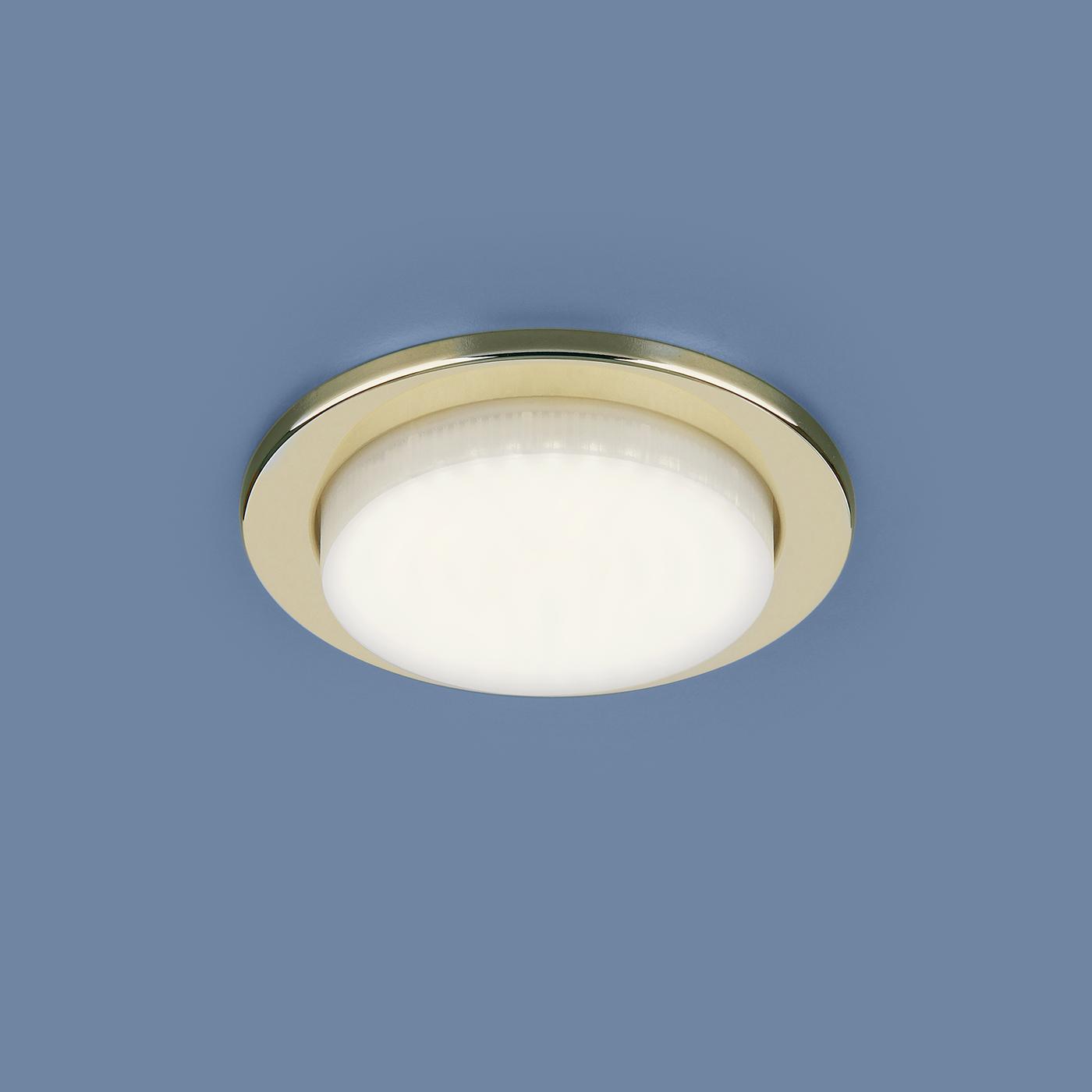 Встраиваемый светильник Elektrostandard потолочный 1035 GX53 GD, GX53 светильник встраиваемый escada milano gu5 3 001 gd