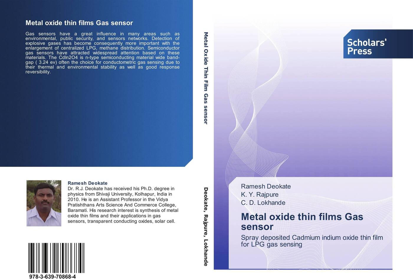 Ramesh Deokate,K. Y. Rajpure and C. D. Lokhande Metal oxide thin films Gas sensor