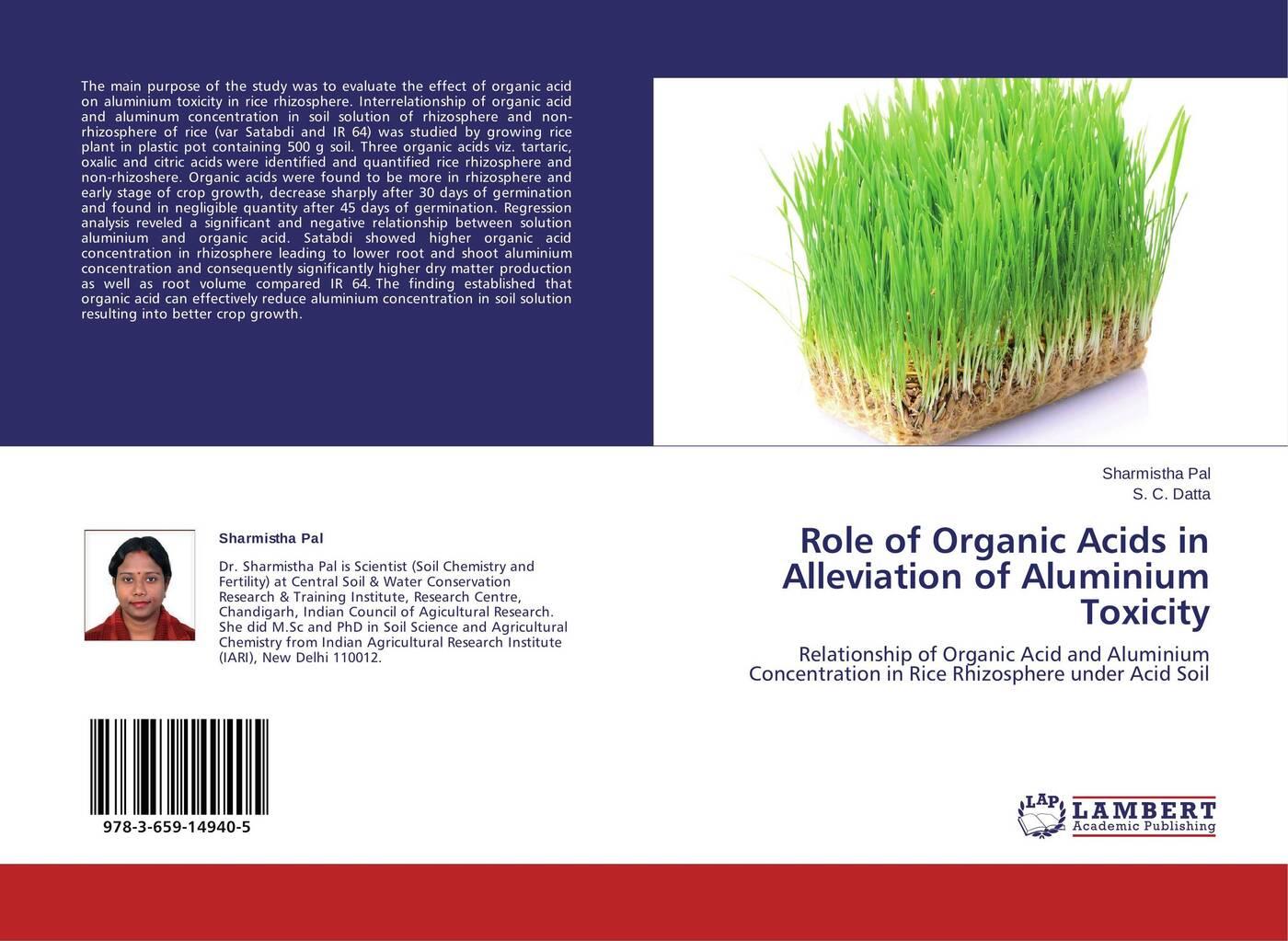 цены на Sharmistha Pal and S. C. Datta Role of Organic Acids in Alleviation of Aluminium Toxicity  в интернет-магазинах