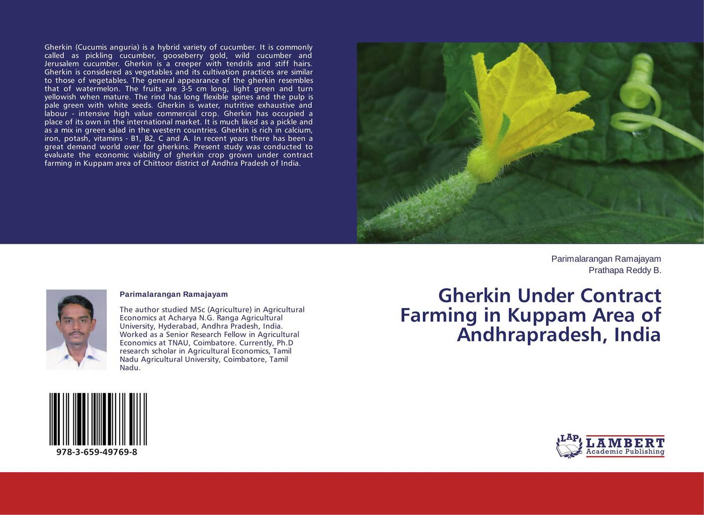 цены на Parimalarangan Ramajayam and Prathapa Reddy B. Gherkin Under Contract Farming in Kuppam Area of Andhrapradesh, India  в интернет-магазинах