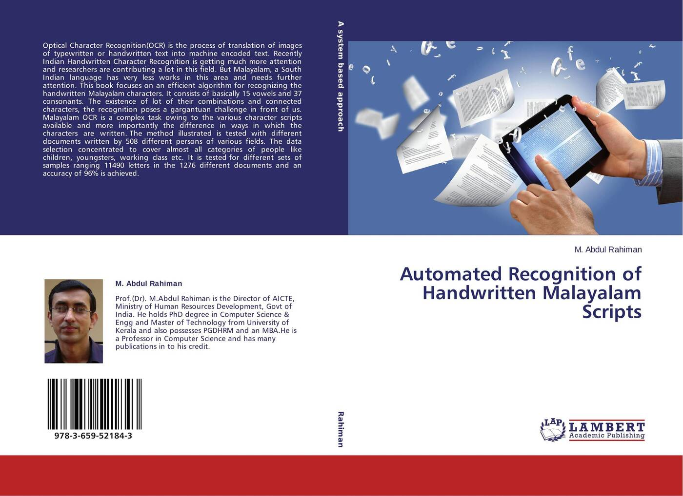 M. Abdul Rahiman Automated Recognition of Handwritten Malayalam Scripts automated recognition of handwritten malayalam scripts