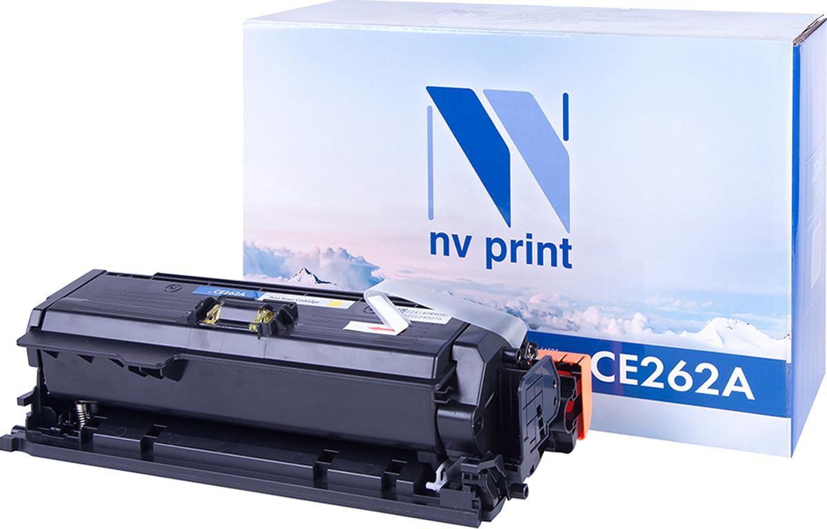 Тонер-картридж NV Print CE262A, желтый, для лазерного принтера