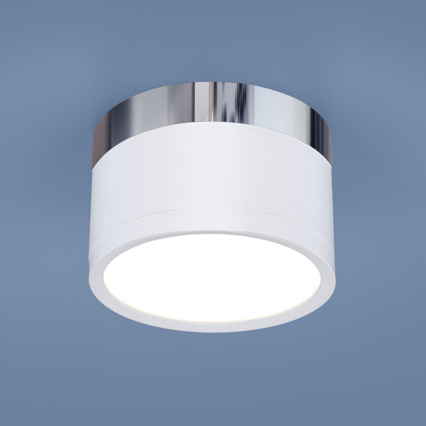 DLR029 10W 4200K / Светильник светодиодный стационарный белый матовый/хром