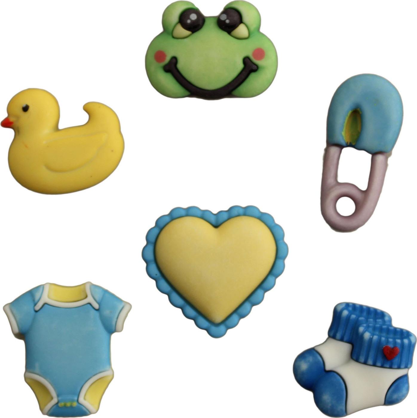 Пуговицы Buttons Galore пластиковые декоративные Little Baby Boy