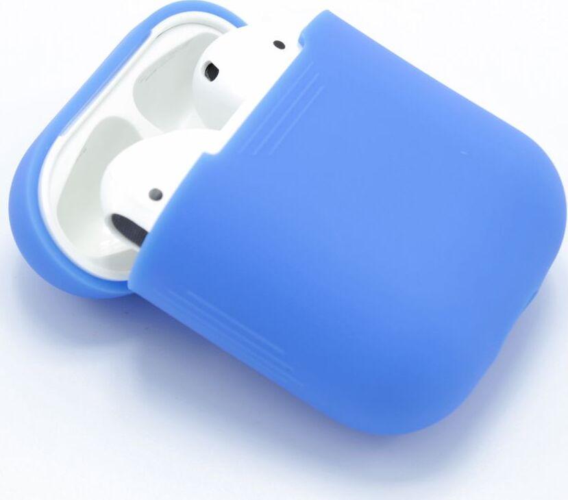 Чехол для Apple AirPods ультратонкий силикон, бархатный светло-синий