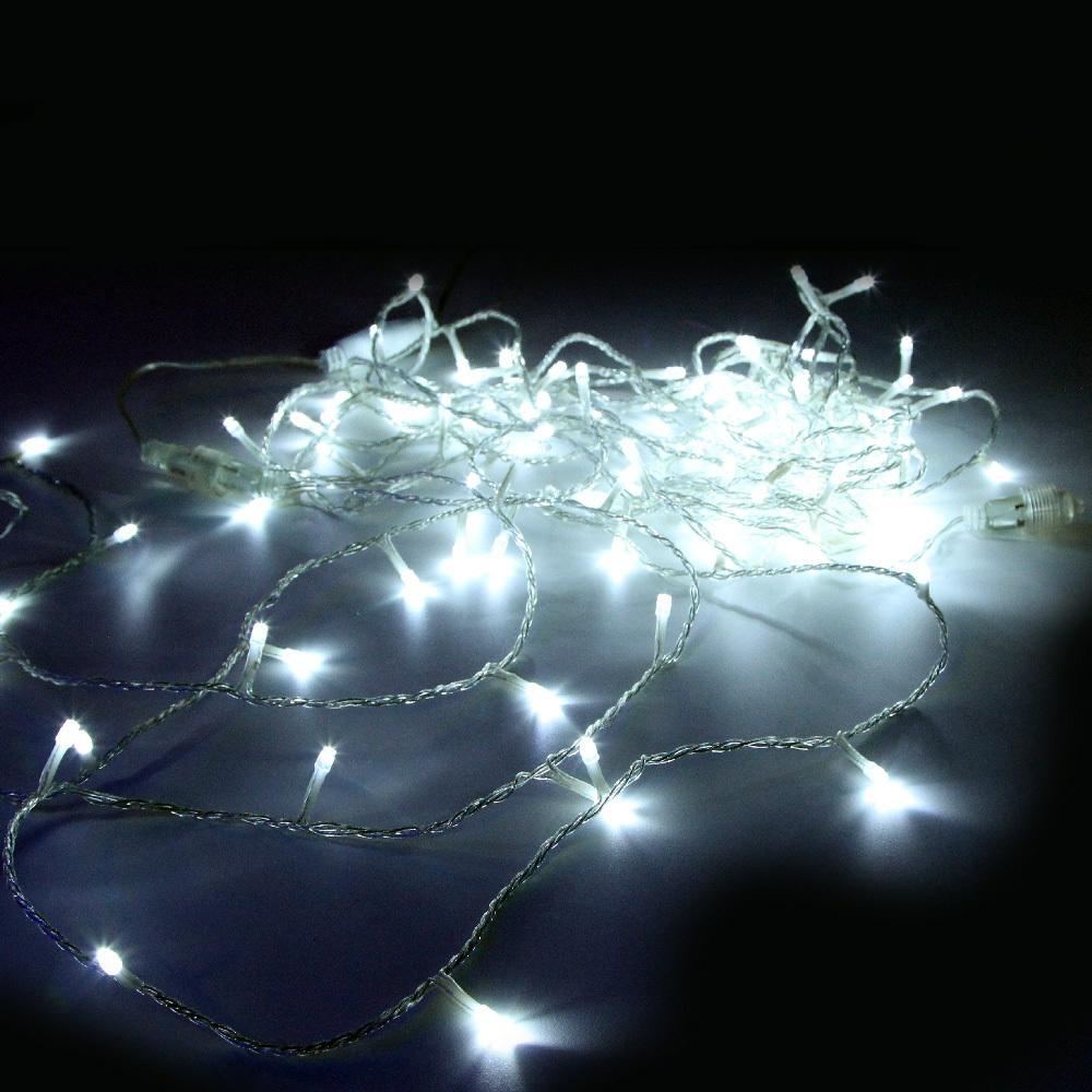 Гирлянда-нить SH Lights LD120-W-E, 12 м, 120 светодиодов, цвет: белый