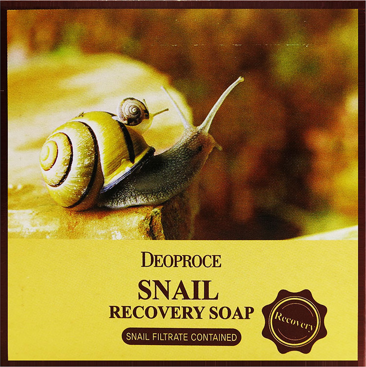 Мыло с улиточным муцином Deoproce Snail Recovery Soap 100 г.  Deoproce