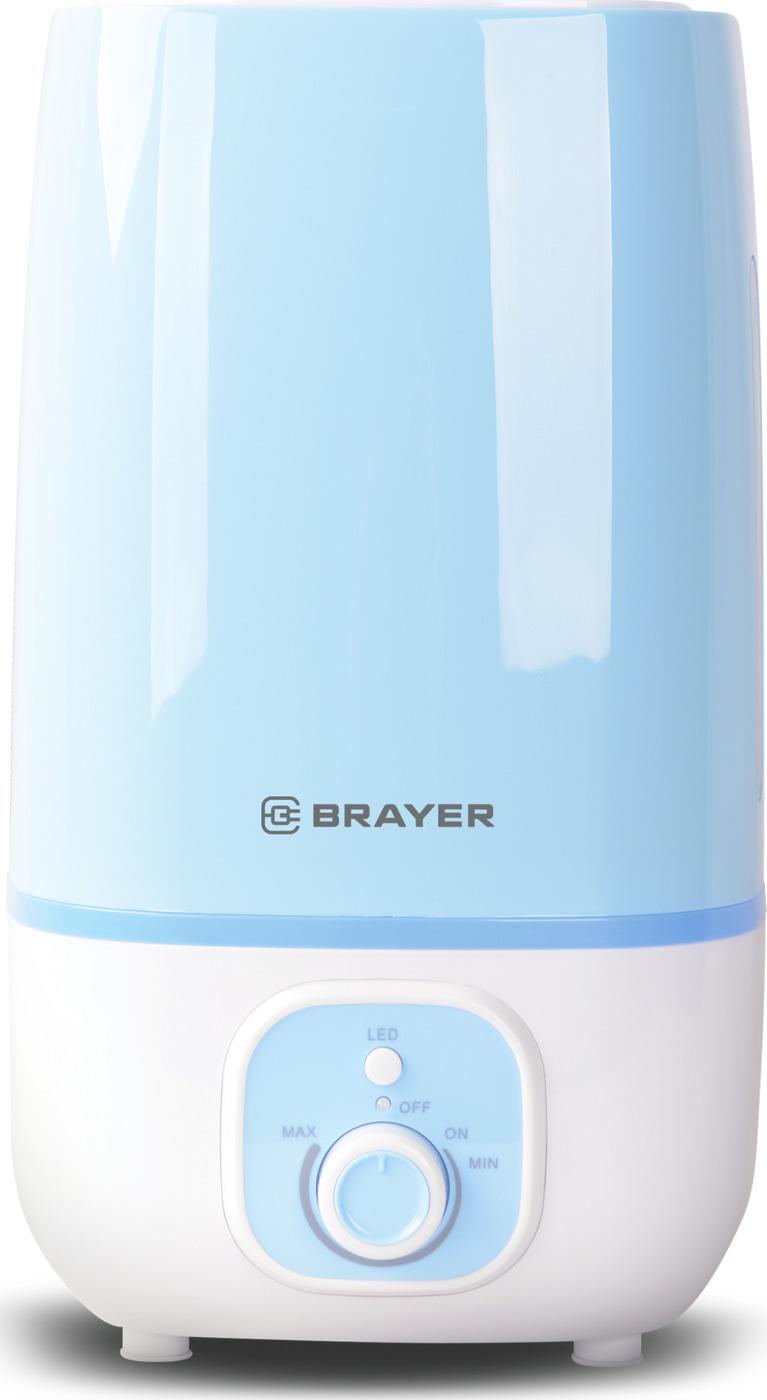 Ультразвуковой увлажнитель BRAYER, 4 л, 25 м,( 40-80%), 13 ч.
