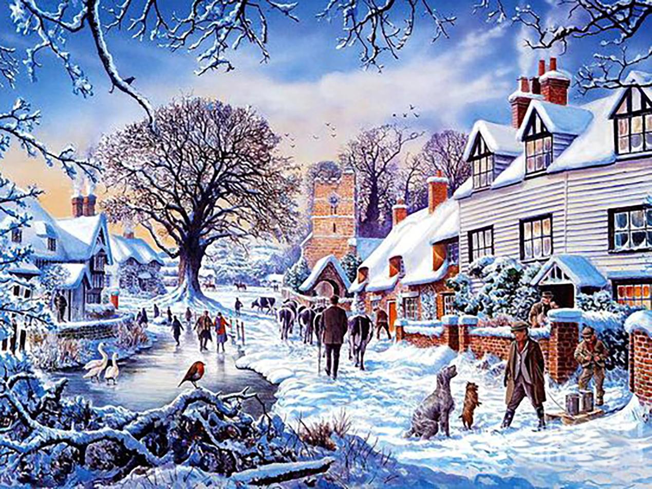 Зимние картинки на стену