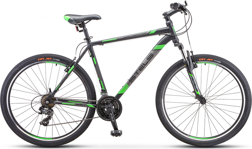 Велосипед Stels Navigator 700 V V020 Черный/зеленый 27.5 (LU093447), 17.5'