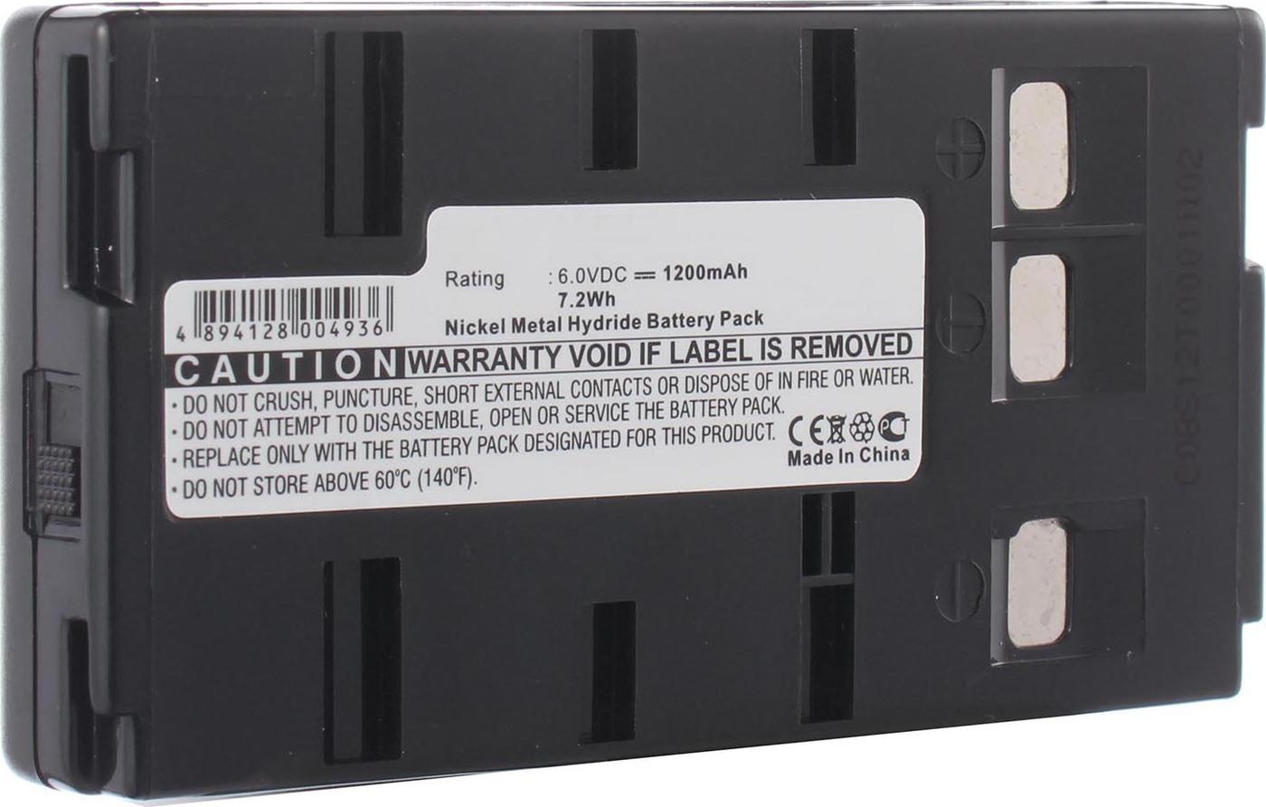 Аккумуляторная батарея iBatt iB-T2-F357 1200mAh для камер JVC GR-SV3, GR-SXM730U, GR-AX227, GR-AX401, GR-AX627, GR-FX17, GR-SX26, GR-AX33, GR-AX7, GR-DV10, GR-FX10, GR-FX11, GR-FXM38, GR-SXM48, GR-SXM750U,  для Panasonic NV-S20, NV-G202, NV-61,