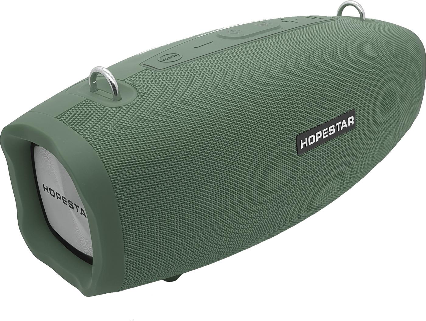Портативная bluetooth колонка Hopestar X 40Вт зеленая