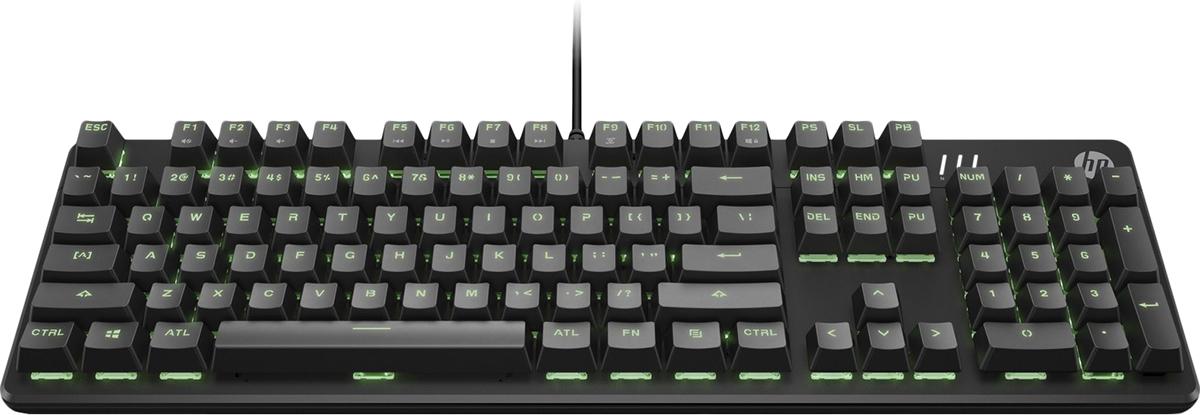 Игровая клавиатура HP Pavilion Gaming Keyboard 500, 3VN40AA, проводная, черный