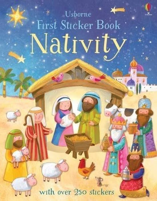 Felicity Brooks. First Sticker Book Nativity | Брукс Фелисити