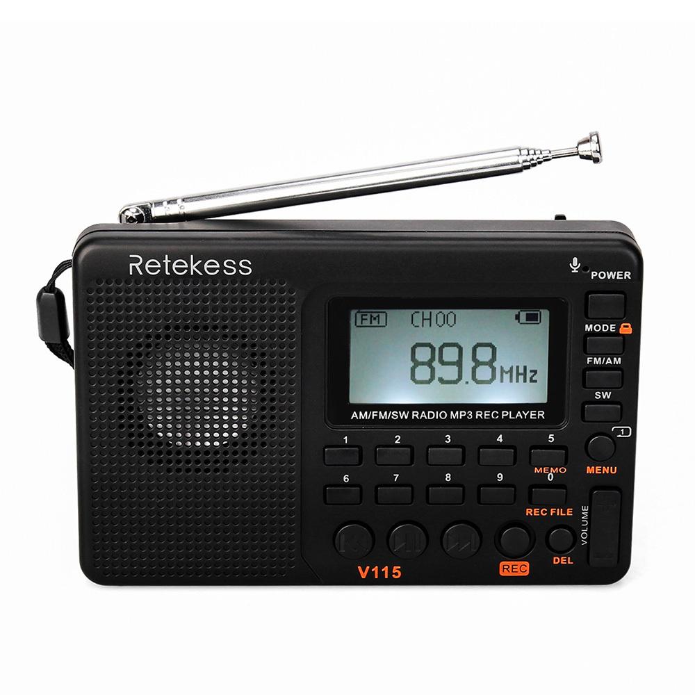 Retekess V-115 FM / AM / SW Радиоприемник черный