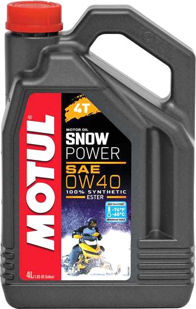 Масло моторное Motul Snowpower 4T 0W-40 4л (105892)