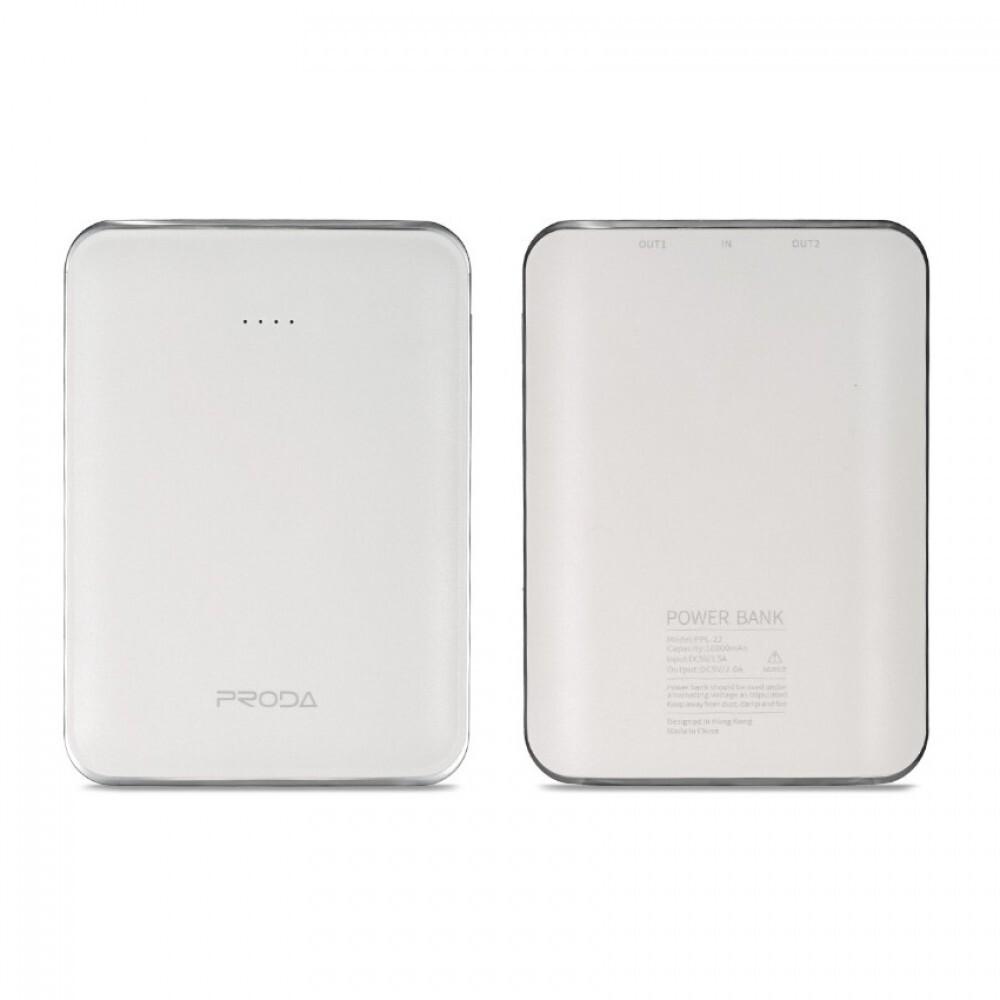 Внешний аккумулятор Remax Proda Mink PPL-22 10000 mAh, белый